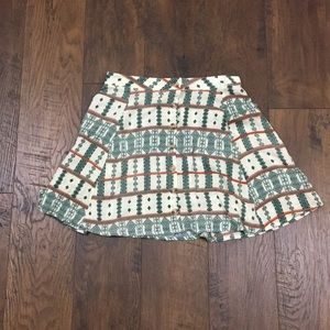 LA Hearts button up patterned skirt